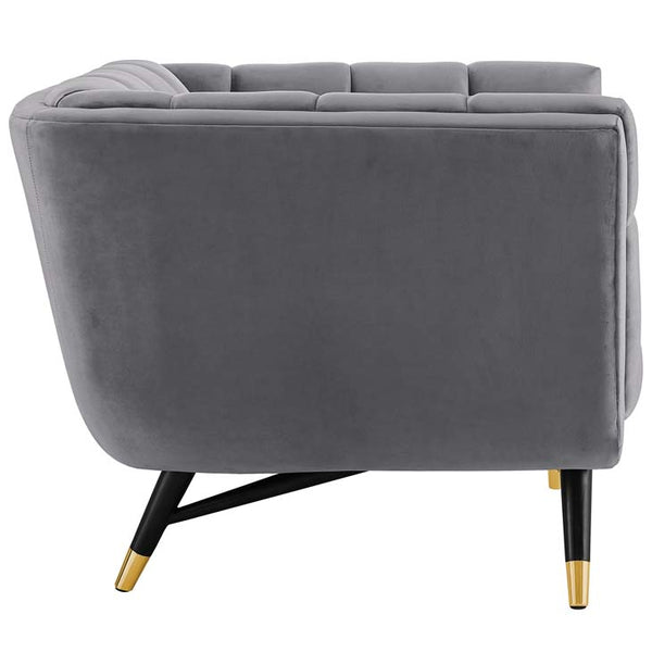 Adept Upholstered Velvet Armchair - living-essentials