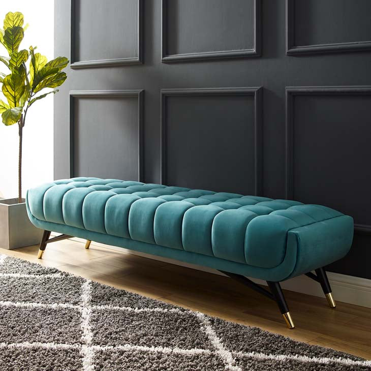Adept Upholstered Velvet Bench - living-essentials