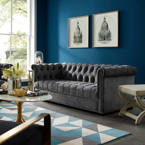 Henry Upholstered Velvet Sofa - living-essentials