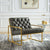 Benjamin Antique Faux Leather Accent Chair