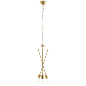 Stefan Brass Pendant Chandelier - living-essentials