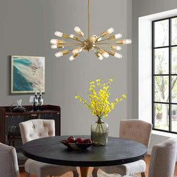 Reeva Brass Pendant Chandelier - living-essentials