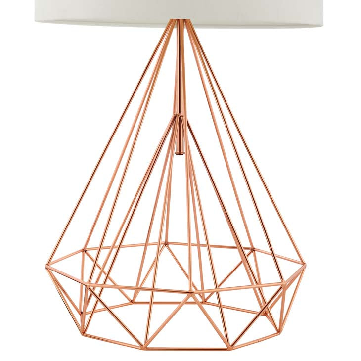 Precious Rose Gold Table Lamp - living-essentials
