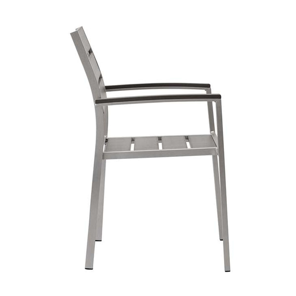 Shoreline Outdoor Patio Aluminum Dining Armchair - living-essentials