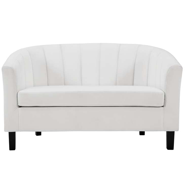 Prospect Channel Tufted Upholstered Velvet Loveseat - living-essentials