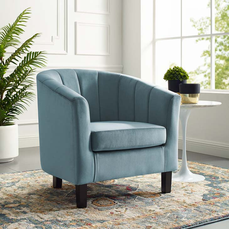 Prospect Channel Tufted Upholstered Velvet Armchair - living-essentials