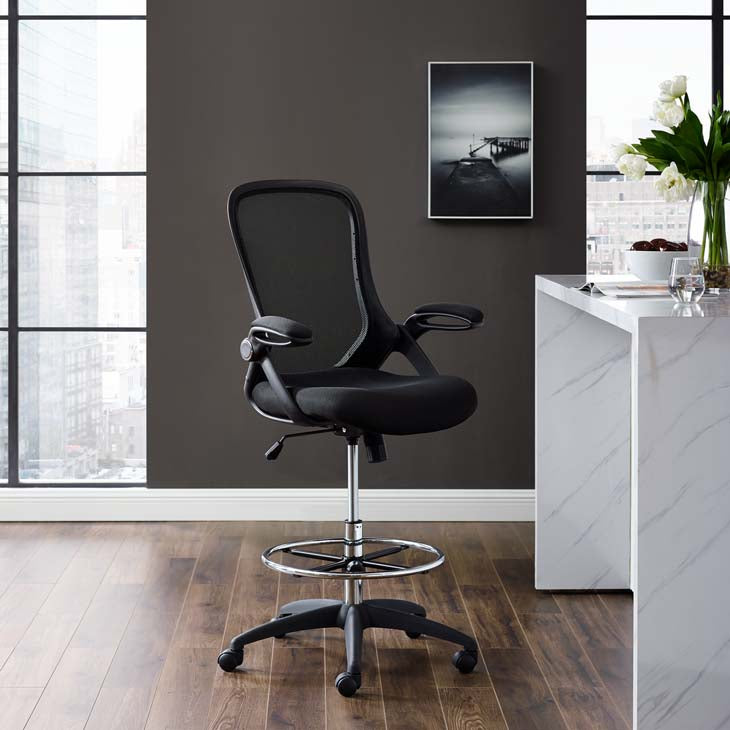 Assert Mesh Drafting Chair - living-essentials