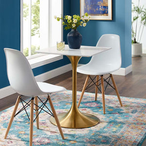 "Tulip Style 24"" Gold Square Dining Table"