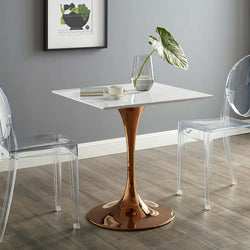 "Tulip Style 28"" Rose Square Dining Table - living-essentials"