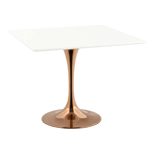"Tulip Style 36"" Rose Square Dining Table - living-essentials"