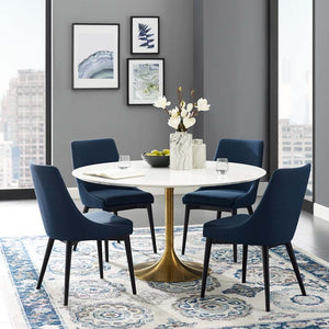 "Tulip Style 54"" Gold Dining Table - living-essentials"