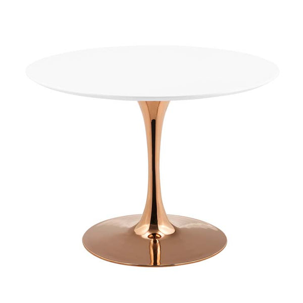 "Tulip Style 40"" Rose Round Dining Table - living-essentials"