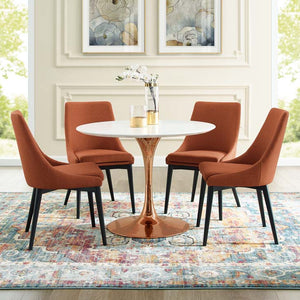 "Tulip Style 40"" Rose Round Dining Table"