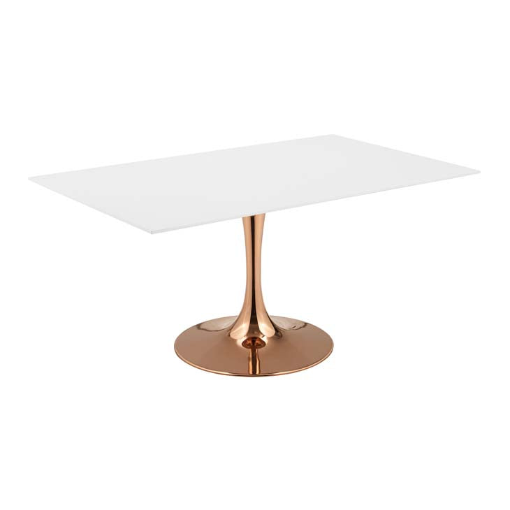 "Tulip Style 60"" Rose Rectangle Dining Table"