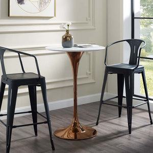 "Tulip Style 28"" Rose Bar Table"
