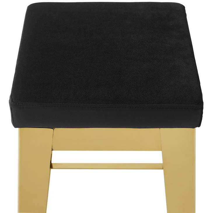 Arrive Gold Stainless Steel Upholstered Velvet Bar Stool - living-essentials