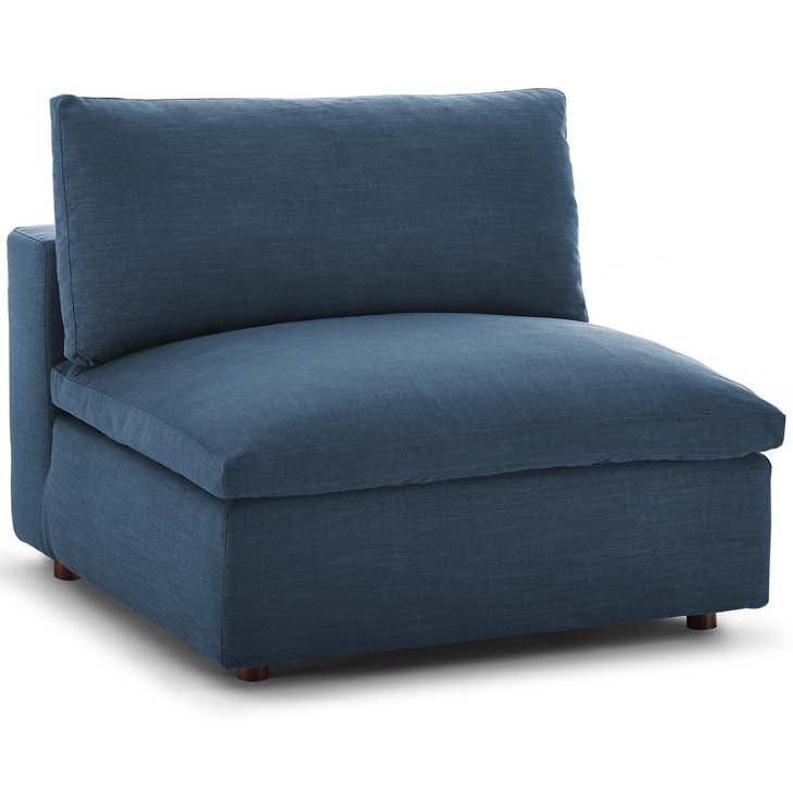 Commix Down Filled Overstuffed Armless Chair - living-essentials