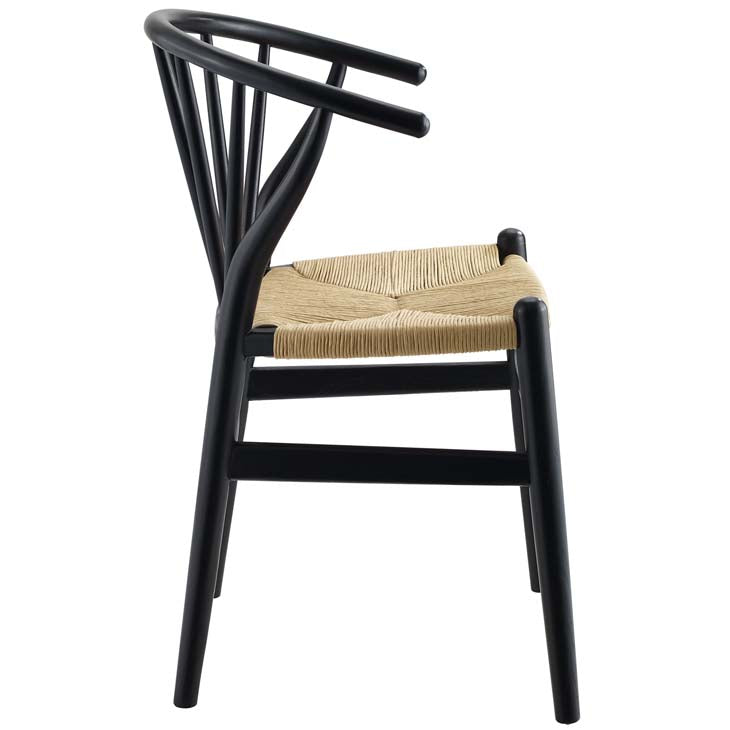 Wishbone Style Spindle Wood Dining Chair - living-essentials