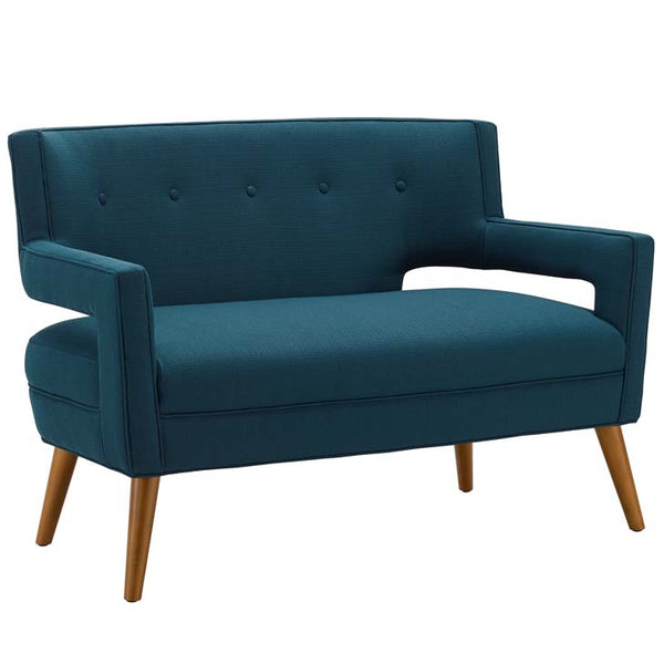 Surpassing Upholstered Fabric Loveseat - living-essentials