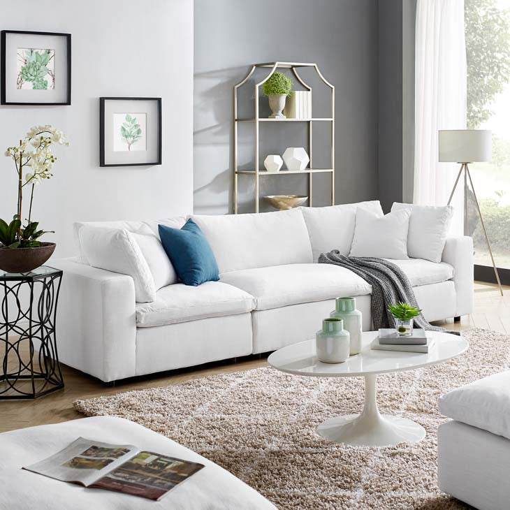 Commix Down Filled Overstuffed 3 Piece Sectional Sofa Set - living-essentials