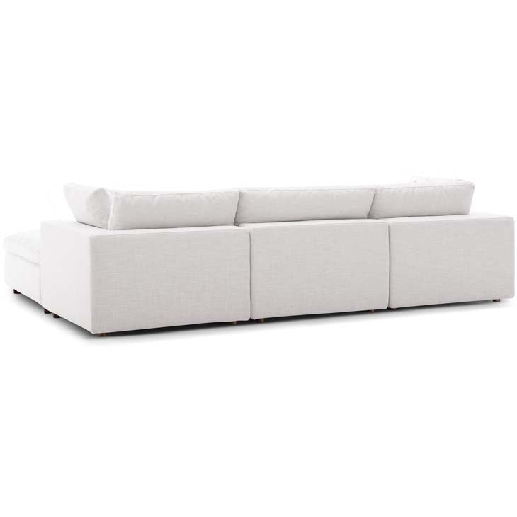Commix Down Filled Overstuffed 4 Piece Sectional Sofa Set - living-essentials