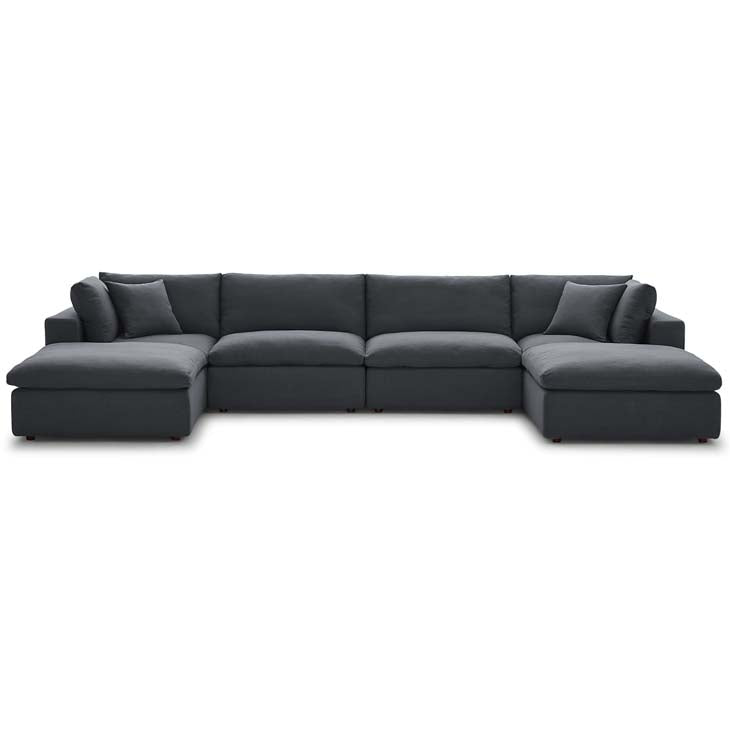Commix Down Filled Overstuffed 6 Piece Sectional Sofa Set - living-essentials