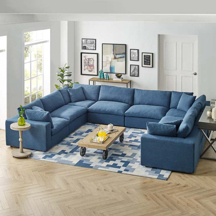 Commix Down Filled Overstuffed 8 Piece Sectional Sofa Set - living-essentials