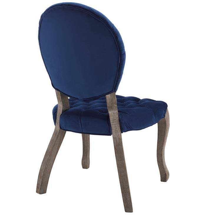 Exhibit French Vintage Dining Performance Velvet Side Chair - living-essentials