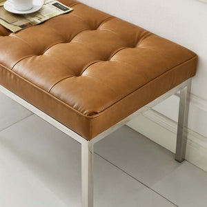 Knoll Style Bench in Tan