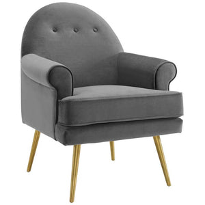 Resuscitate Tufted Button Accent Performance Velvet Armchair
