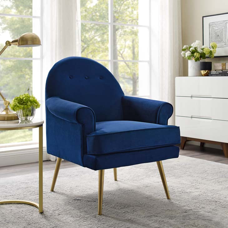 Resuscitate Tufted Button Accent Performance Velvet Armchair - living-essentials