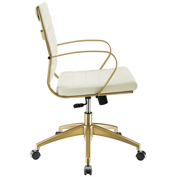 Swing Gold Stainless Steel Midback Office Chair - living-essentials