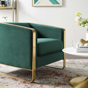 Envision Accent Club Lounge Performance Velvet Armchair
