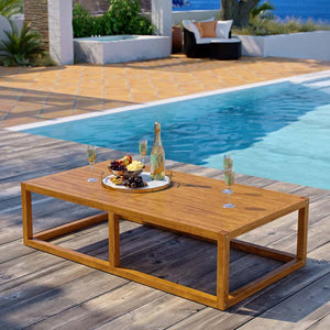 Bibury Outdoor Patio Premium Teak Wood Coffee Table - living-essentials