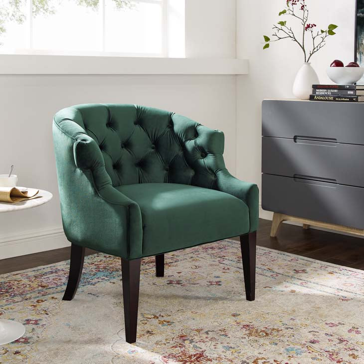Perceptual Accent Performance Velvet Armchair - living-essentials