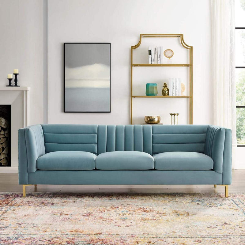 Ingenuity Tufted Performance Velvet Sofa - living-essentials