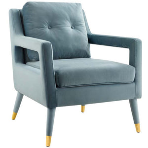 Postulate Accent Lounge Performance Velvet Armchair