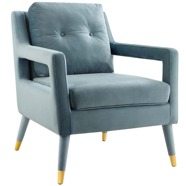 Postulate Accent Lounge Performance Velvet Armchair - living-essentials