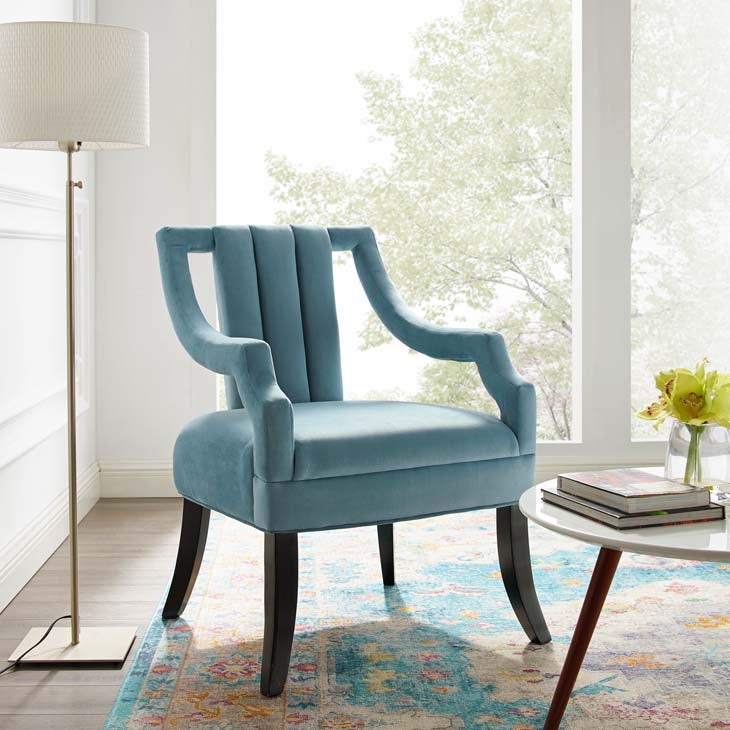 Walmart Performance Velvet Accent Chair - living-essentials