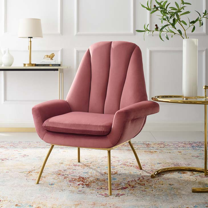 Apogee Accent Performance Velvet Armchair - living-essentials