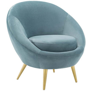 Circle Performance Velvet Accent Chair