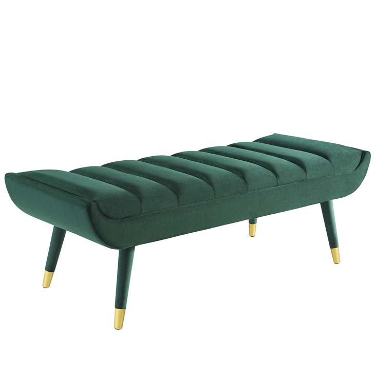 Coco Velvet Accent Bench - living-essentials