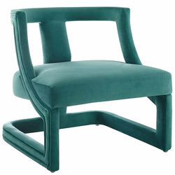 Rigueur Accent Lounge Performance Velvet Armchair - living-essentials