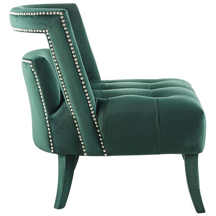 Honor Accent Lounge Performance Velvet Armchair - living-essentials