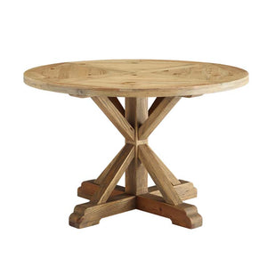 "Sew 47"" Round Pine Wood Dining Table"