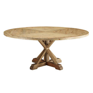 "Sew 71"" Round Pine Wood Dining Table"