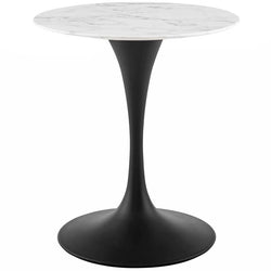 "Tulip 28"" Round Artificial Marble Dining Table - living-essentials"