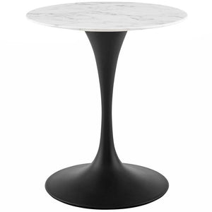 "Tulip 28"" Round Artificial Marble Dining Table"