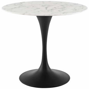 "Tulip 36"" Round Artificial Marble Dining Table"