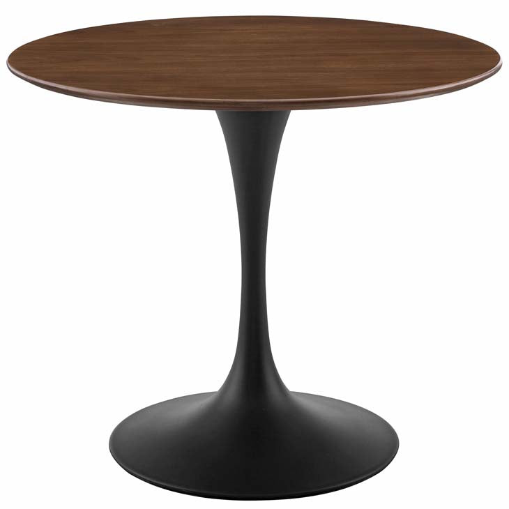 "Tulip 36"" Round Walnut Dining Table - living-essentials"